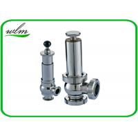 Best Intelligent Sanitary Pressure Relief Valve For Pipeline System Protection wholesale