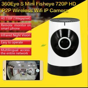 Best EC5 720P Fisheye Panorama WIFI P2P IP Camera IR Night Vision CCTV DVR Wireless Remote Surveillance on iOS/Android App wholesale