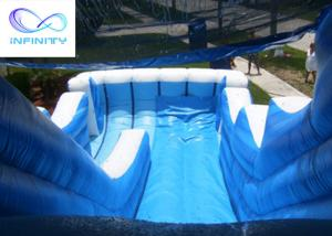 Best Commercial 6.5 Meters High Blue Wavy Inflatable Water Slide For Outdoor Summer Fun wholesale