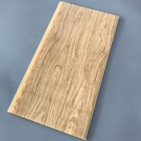 Best Yellow Wood Pvc Panel For Ceiling Decorative 25cm Width OEM / ODM Available wholesale