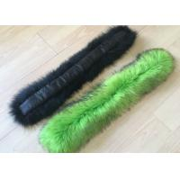 Best Dyed Color Long Raccoon Fur Collar Handmade Warm Soft Smooth For Jacket Hood wholesale