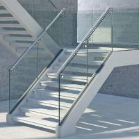 Best Cheap Prices Aluminum Appearance Stair Glass Railing with CE Certified 12mm Tempered Glass wholesale