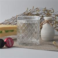 Best Creative decorative glass candle holders with lid set , pattern design wholesale