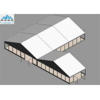 Best 10x15m / 10x5m Outdoor Warehouse Tent Wooden Floor White PVC Cover For Trade Reception European Style wholesale