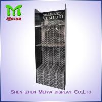 Best Glossy lamination corrugated cardboard display shelf for clothing with 3 Tiers wholesale
