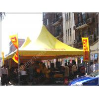 Quality Yellow Top Cover Fabric High Peak Tents High Performance 80 KM / H Wind Load wholesale
