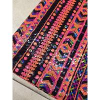 Best Multi-color sequin embroidery fabric Textile Cloth Two-tone Reversible Sequin Embroidery Fabric folk-custom wholesale