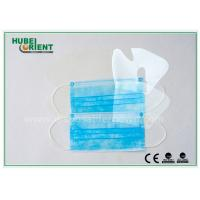 Best Blue Disposable Earloop Face Mask / Safety Medical Mouth Mask For Hospitals , CE ISO Standard wholesale