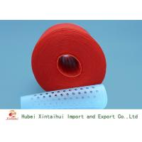 China Dyed Red Color 100 Polyester Spun Yarn For Garments Industry Kontless on sale
