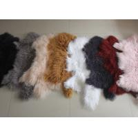 Best Mongolian sheepskin Hide 100% Long hair Tibet Lamb fur Curly wool plate Cover wholesale