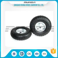 Best Galvanized Color Pneumatic Rubber Wheels Steel Rim Ball Bearing 55mm Hub 3.50-4 wholesale