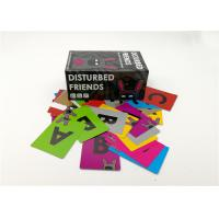 Best Laminated Type Disturbed Friends Card Game With Different Sizes Black Color wholesale