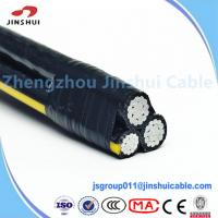 Best Duplex Wire Overhead Service Conductors AAAC , Ouside Aerial Messenger Cable wholesale