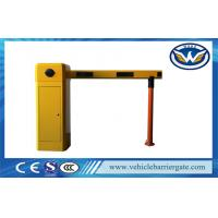 Best Yellow Car Park Barriers With 1 - 6 meters Straight Boom For Car Parking System wholesale