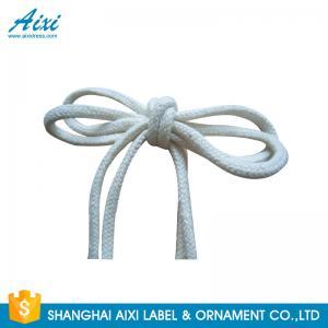 Best 100% Cotton Webbing Straps Printed Flat Cotton Elastic Cord Shoelace wholesale
