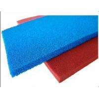 Best Red Blue Silicone Sponge Sheet Food Grade Silicone Rubber Sheet Open Cell For Iron Table wholesale