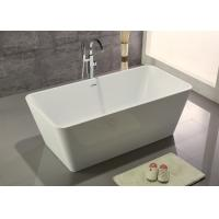 Cheap Narrow Edge Portable Acrylic Freestanding Bathtub With End Drain Lightweight for sale