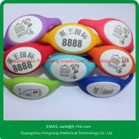 Best Silk-creen Printing ISO14443A Silicone RFID Wristband with  chip wholesale
