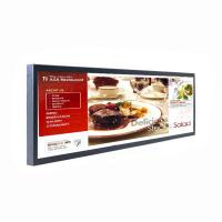 China 29 inch Strip Bar LCD Digital Signage / Stretched LCD Screen Support 1080P Full HD Video on sale