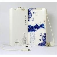 Best 5000mah Portable USB Power Bank , Li-Polymer Power Bank 5000mah Built In Cables wholesale