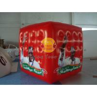 Best Red Inflatable advertising cube balloon with Full digital printing for Opening event wholesale