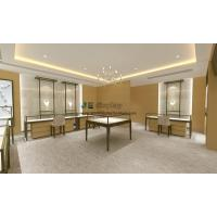 Best Concise design jewelry store interior fitout display 3D image by Stainless steel counters and showcase wholesale