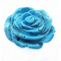Cheap Blue / Green / Purple Flower Craft Colored Semi Precious Gemstones Carving for sale