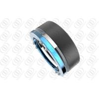 Cheap Stylish Men Stainless Steel Rings Engagement Blue And Black Plated wholesale
