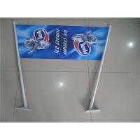 Best Double Sides Shop Front Flags , End Sign Flags 80cm Length Pole wholesale