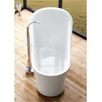 Best 1 Person Elegant Acrylic Free Standing Bathtub Oval Soaking Tub Multiple Colors wholesale