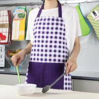 Best Purple Color Small Checker Pattern Bib Style Home Kitchen Apron 70x80cm or Customized wholesale