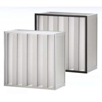 Buy cheap V - form H13, H14 Aluminum high capacity pleated hepa filter for industrial from wholesalers