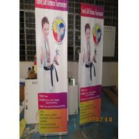 Cheap Outdoor Trade Show Display Banners , Tabletop Retractable Banner Water Resistant Print for sale