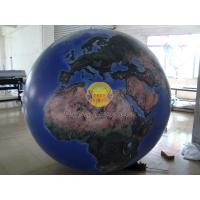 Cheap 2m Huge Inflatable Helium Earth Balloons Globe with Total Digital Printing with 540*1080 dpi for Trade show for sale