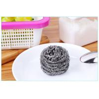 Best Oil Removing Metal Scouring Ball Antibacterial For Restaurant Washing Pots wholesale