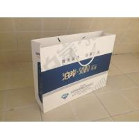 Best Flowery Kraft Paper Customized Paper Bags With Ribbon Handle wholesale