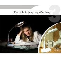 Quality Multi-purpose magnifier led Magnifying loupe Glasses Desk Table Reading Lamp Light KS-1081T flat or clamp on the table m wholesale
