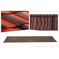 China Circular Wood Grain Stone Coated Roofing Tiles House Roof Tiles on sale