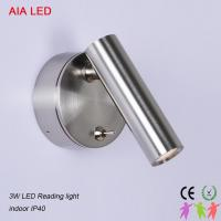 Best Silver brushed adjustable with switch modern bedside LED wall lighting/led reading lamps for hotel rooms wholesale
