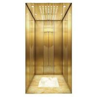 China Home Lift with Mirror Stainless Steel Frame & Acrylic Light Decoration & Down Light on sale