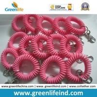 Best Stretchable Solid Pink Wrist Strap Coil Retainer W/Snap Hook wholesale