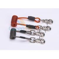 Best Double Colors Coil Tool Lanyard 5.0 * 50MM Safety With Zinc Alloy Swivel Snap Hooks wholesale