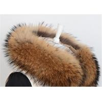 Best Pure Color Anti Shrink Detachable Fur Collars For Coats , Fluffy Fur Neck Collar  wholesale