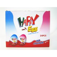 Best Milk And Chocolate Chips Cookies Flavor Happy Egg In Box With a Lovely Toy wholesale