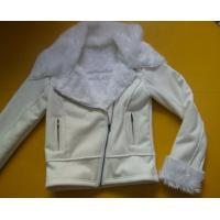 Best 100 Polyester Bomber Jacket , Suede And Fur Joint Ladies Hooded Jacket wholesale