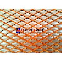 China Small Hole Raised Copper Expanded Metal Mesh Diamond Hole In Rolls on sale