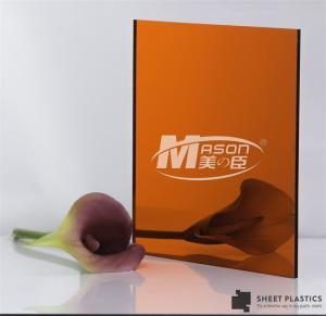 Best Glossy Thin Rose Gold Mirror Acrylic Sheet 1.22x1.83m wholesale