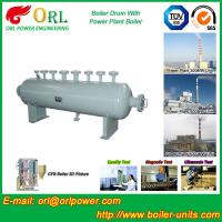Cheap Energy Saving Floor Standing Boiler Mud Drum , Grey High Pressure Drum for sale