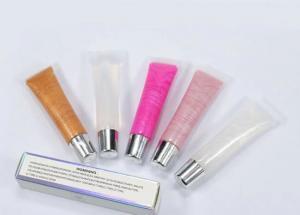 Best 5 Colors Shimmer Lip Gloss , MSDS Transparent Glitter Lip Gloss wholesale