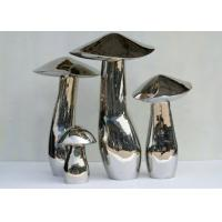 Best Home Art Decoration Mushroom Garden Sculptures Stainless Steel Anti Corrosion wholesale